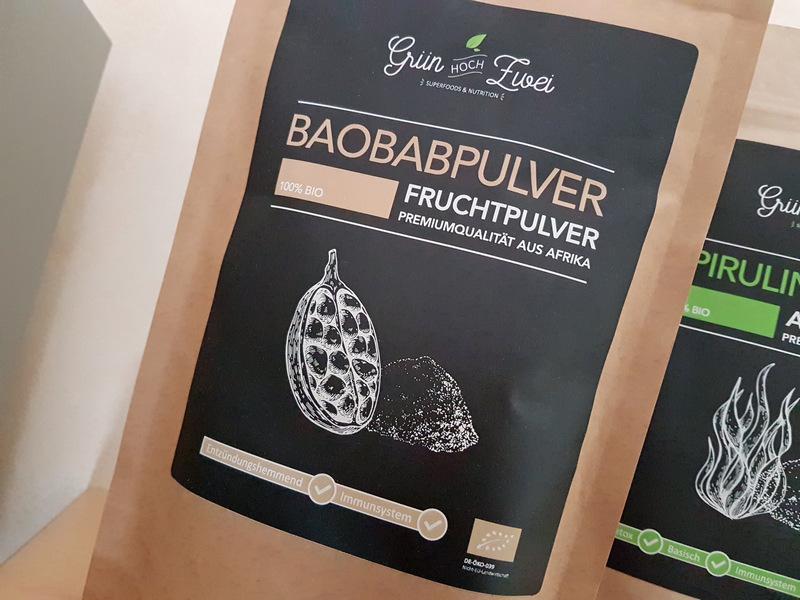 Grün hoch zwei Superfood Baobab