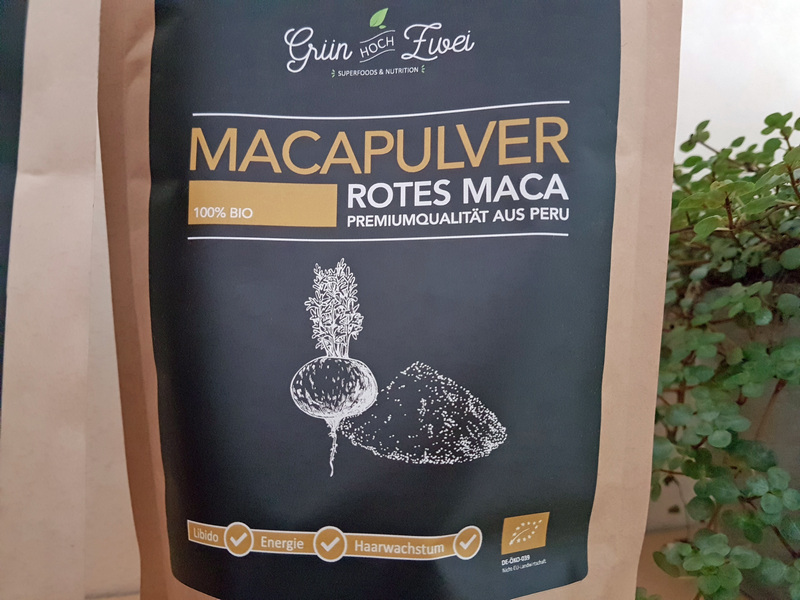 Grün hoch zwei Superfood Maca