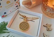 Happiness Boutique Blume des Lebens Halskette mit Anhänger