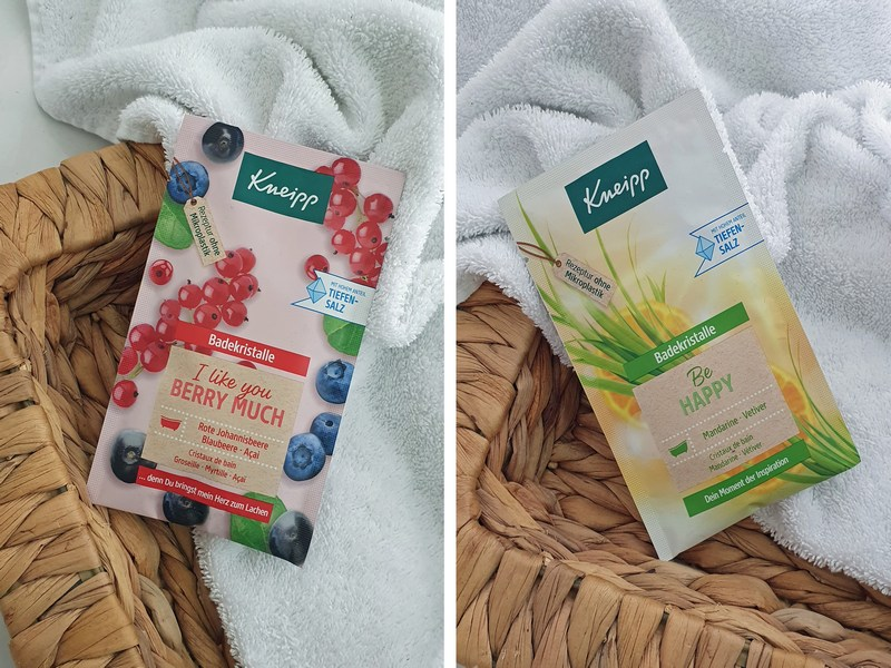 Kneipp Badekristalle Be Happy und I like you berry much