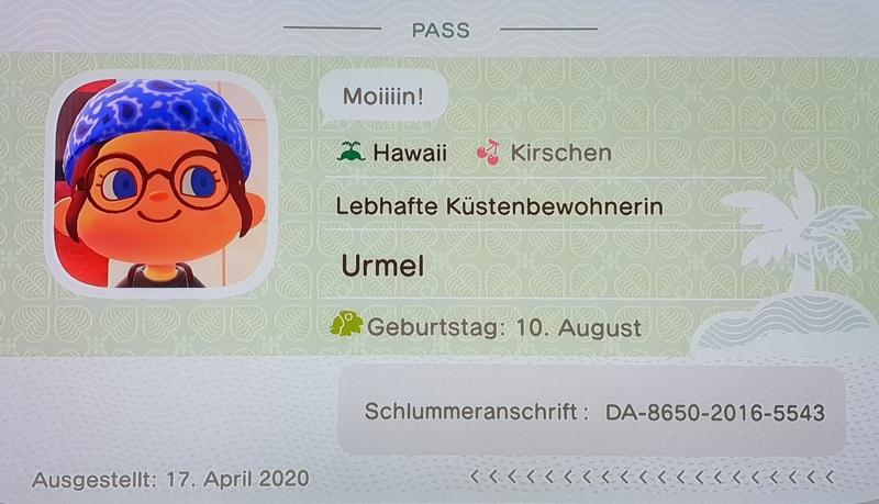 Animal Crossing New Horizons Schlummercode