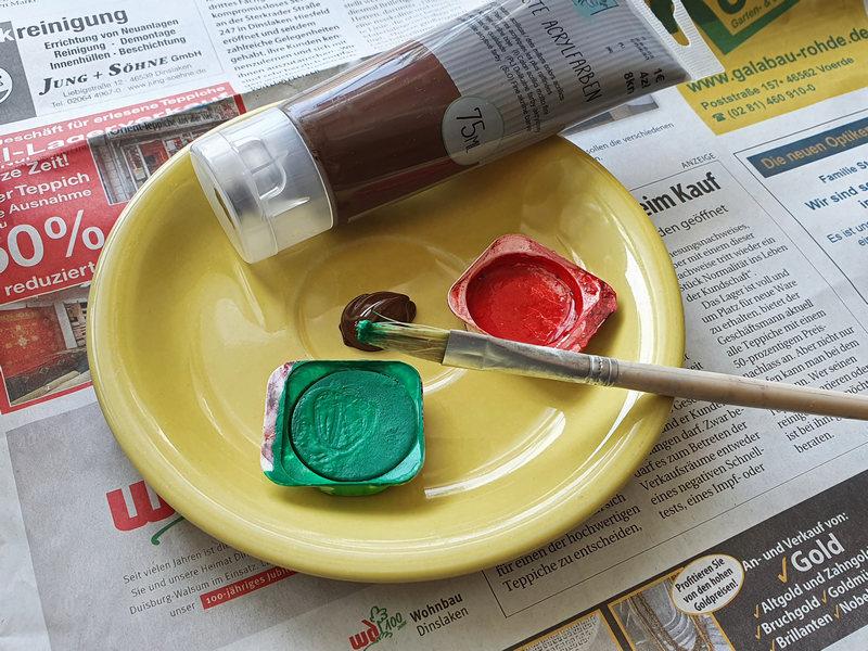 Acrylfarbe und Wasserfarbe