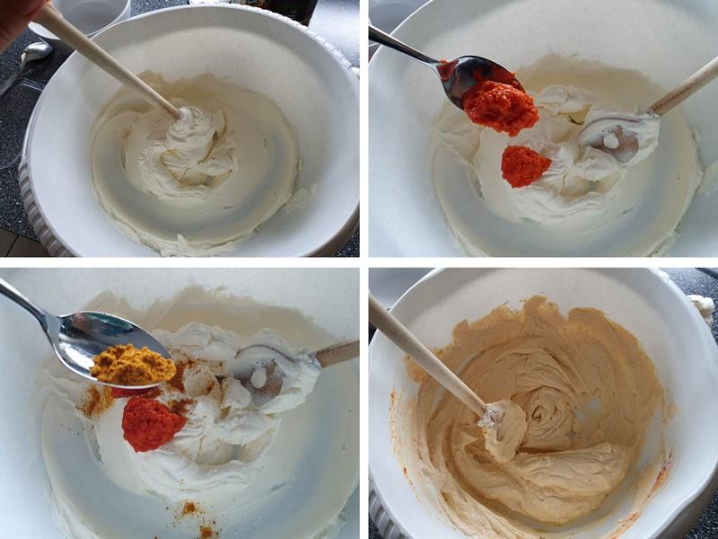 fruchtig pikanter Dattel Frischkäse Dip